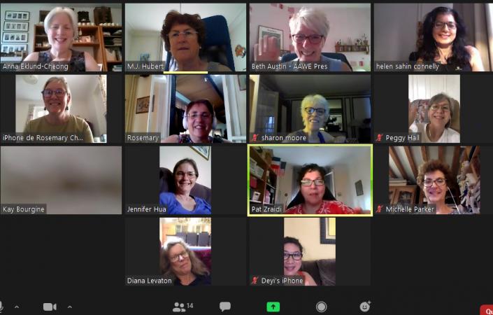 AAWE Zoom Meetings during Covid-19