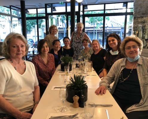 AAWE members out for dinner after lockdown